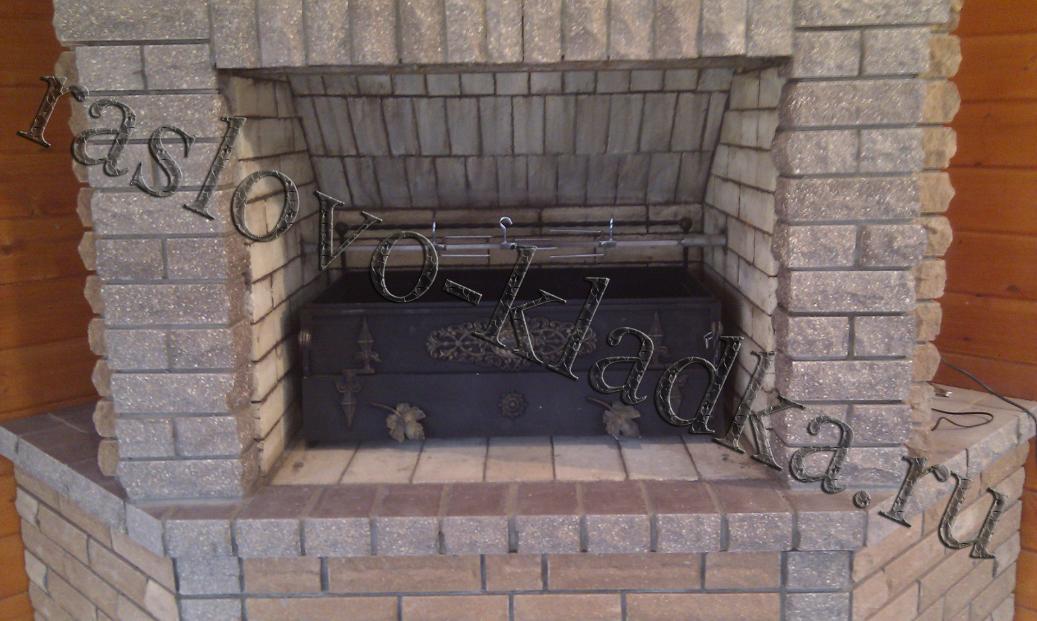 Мангал-барбекю кованые и кирпичные мини камины электрические