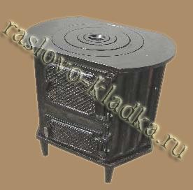 чугунная печь-мангал под казан